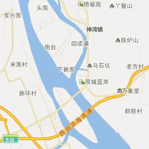 中山市坦洲镇行政地图