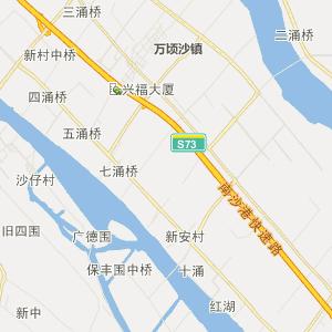 中山市民众镇行政地图
