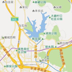 广东省深圳市行政地图