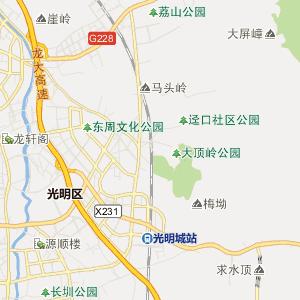 东莞市长安镇行政地图