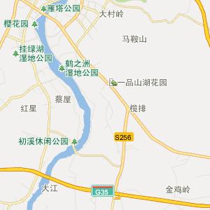 增城市荔城街道行政地图