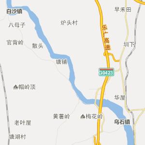 韶关曲江行政地图_中国电子地图网