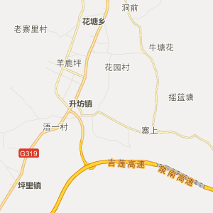 萍乡市莲花县行政地图图片