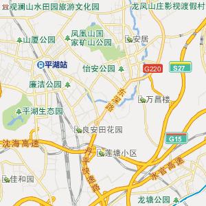 深圳大浪街道行政中心地图公交