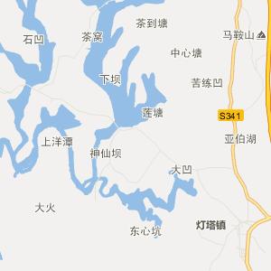 东源县灯塔镇行政地图
