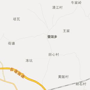 吉安县官田乡行政地图
