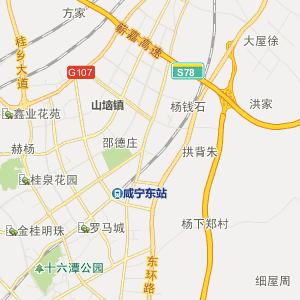 湖北行政地图 咸宁行政地图