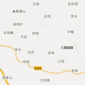 光山县凉亭乡行政地图
