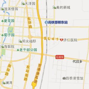 河北行政地图 邯郸行政地图