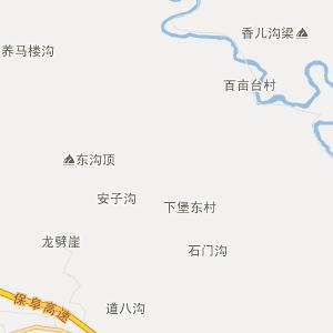 阜平东下关行政地图_中国电子地图网