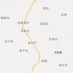 阜平台峪行政地图_中国电子地图网图片