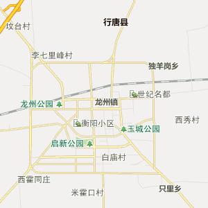 石家庄市行唐县行政地图