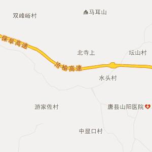 唐县高昌行政地图_中国电子地图网