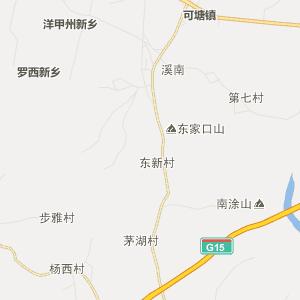 陆丰潭西行政地图_中国电子地图网