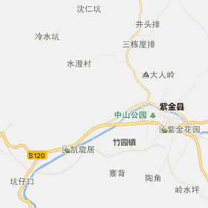紫金附城行政地图_附城在线行政图