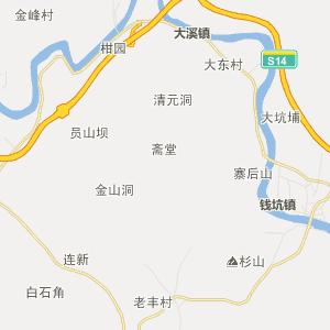 揭阳市揭西县行政地图