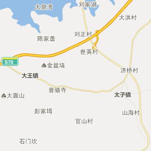 阳新县大王镇行政地图