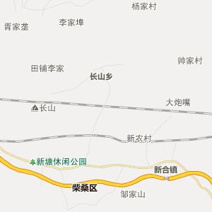 九江市九江县行政地图