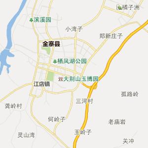 金寨县白塔畈乡行政地图