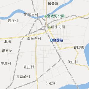 濮阳市台前县行政地图