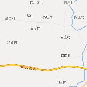 河北省行政地图 邯郸市行政地图