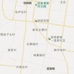 冠县东古城镇行政地图