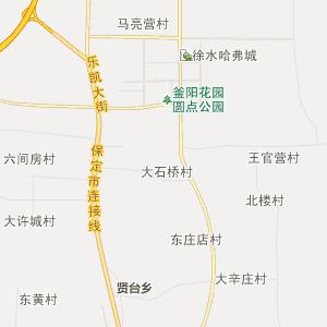 河北省行政地图 保定市行政地图