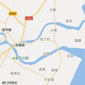 广东省行政地图 潮州市行政地图