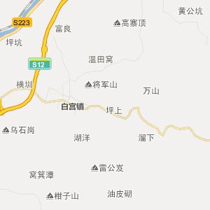 梅县行政地图 大埔行政地图