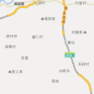 永定县金砂乡行政地图查询_金