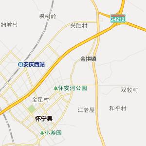 安庆市行政地图