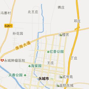 永城市苗桥乡行政地图