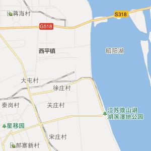 微山县行政地图_