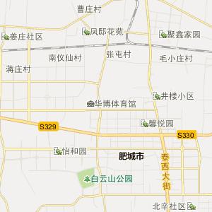 泰安市肥城市行政地图图片