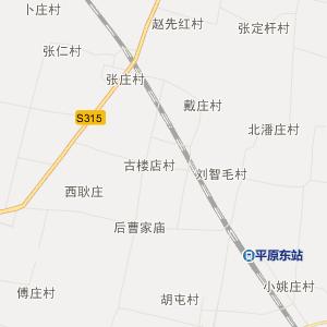 山东省行政地图 德州市行政地图