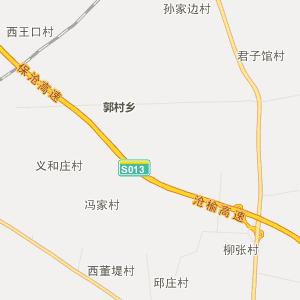 高阳县西演镇行政地图