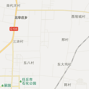 任丘市青塔乡行政地图