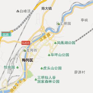 三明梅列行政地图
