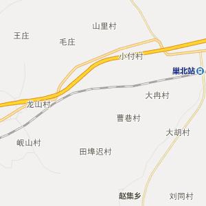 安徽省行政地图 巢湖市行政地图
