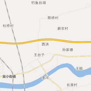 安徽省蚌埠市行政地图