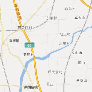 2 公里 滕州官桥行政地图 官桥行政区划图