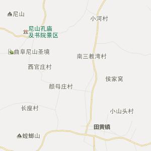 泗水县圣水峪乡行政地图