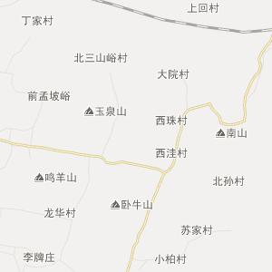 济南市章丘市行政地图