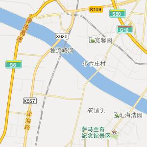 西青张家窝行政地图_中国电子地图网