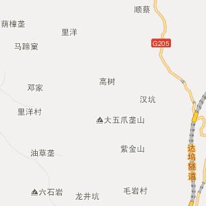 广丰县沙田镇行政地图图片