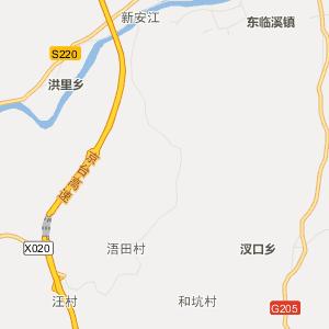 安徽省黄山市行政地图