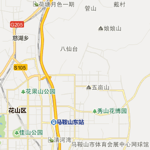 安徽省马鞍山市行政地图