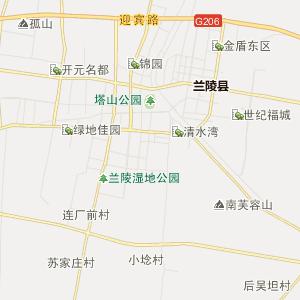 苍山县尚岩镇行政地图