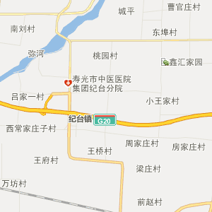 潍坊市昌乐县行政地图