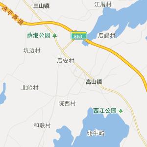 福清高山行政地图_高山在线行政图图片